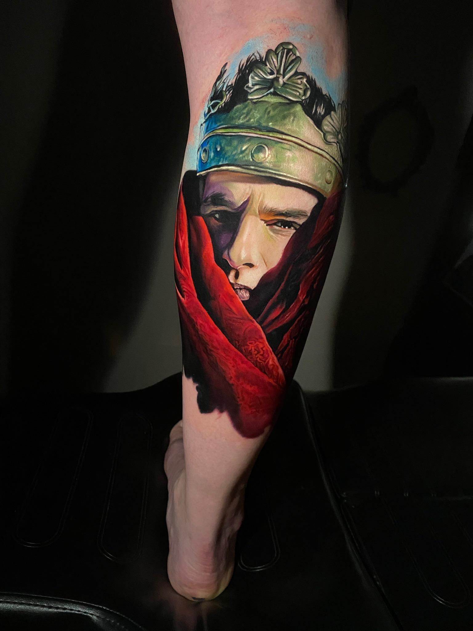 Portrait réaliste couleurs du chanteur Dave Gahan